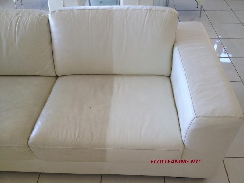 couch cleaned on half