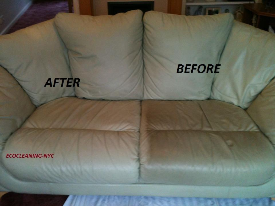 couch before and after cleaning comparison