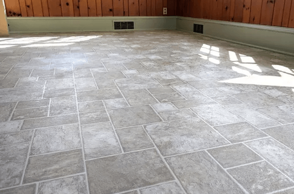 tile looking linoleum floor