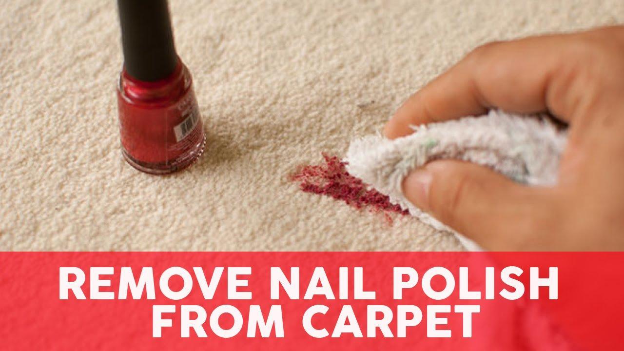 Move nail polish from carpet