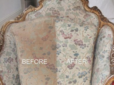 before and after upholstery cleaning comparison