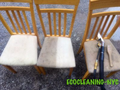 half cleaned chair